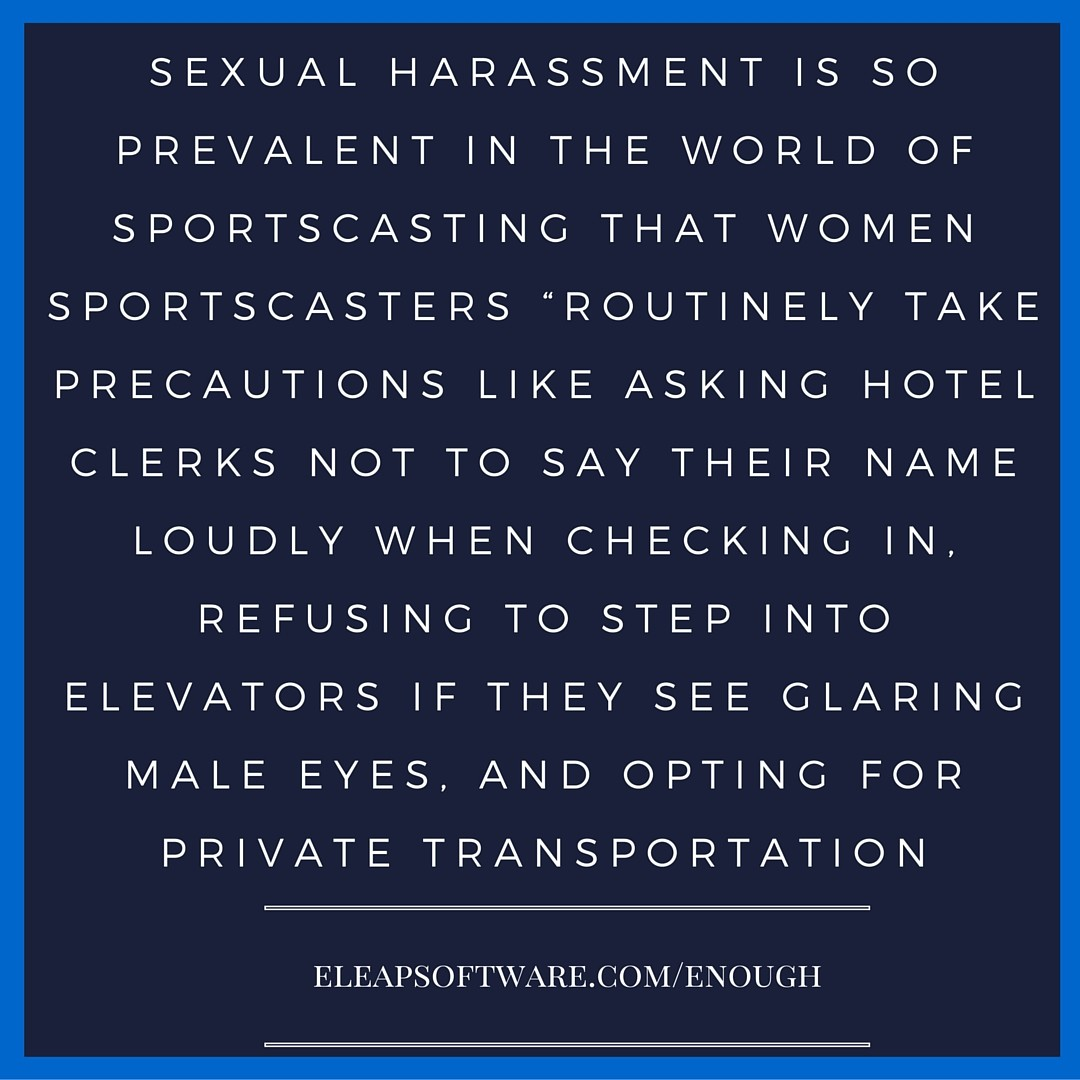 sexual harassment is so prevalent sports